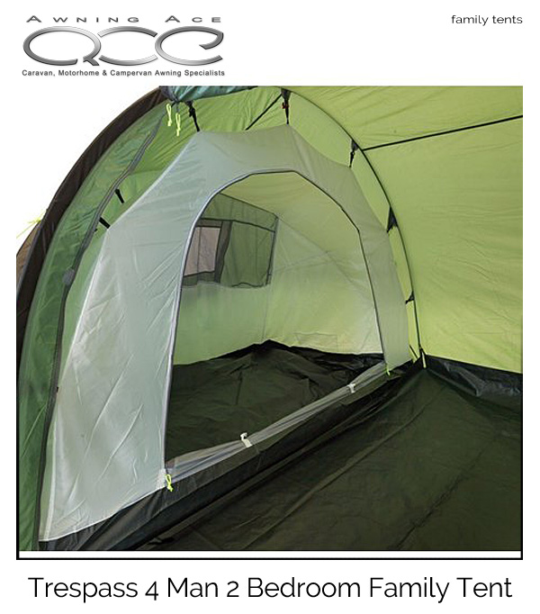 sc 1 st  Awning Ace & Trespass 4 Man 2 Bedroom large Family Tent - awningace.com